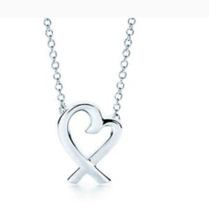 Tiffany Paloma Picasso Loving Heart Necklace